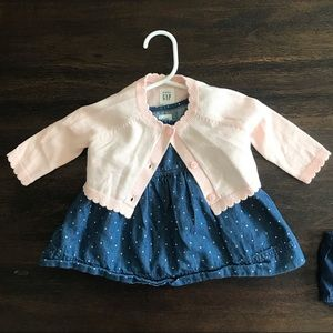 Baby Gap Outfit (Cardigan and Dress)